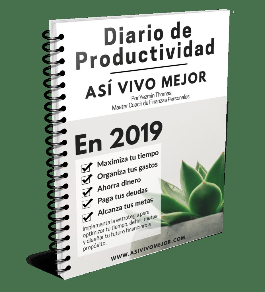 Diario de productividad Asi Vivo Mejor